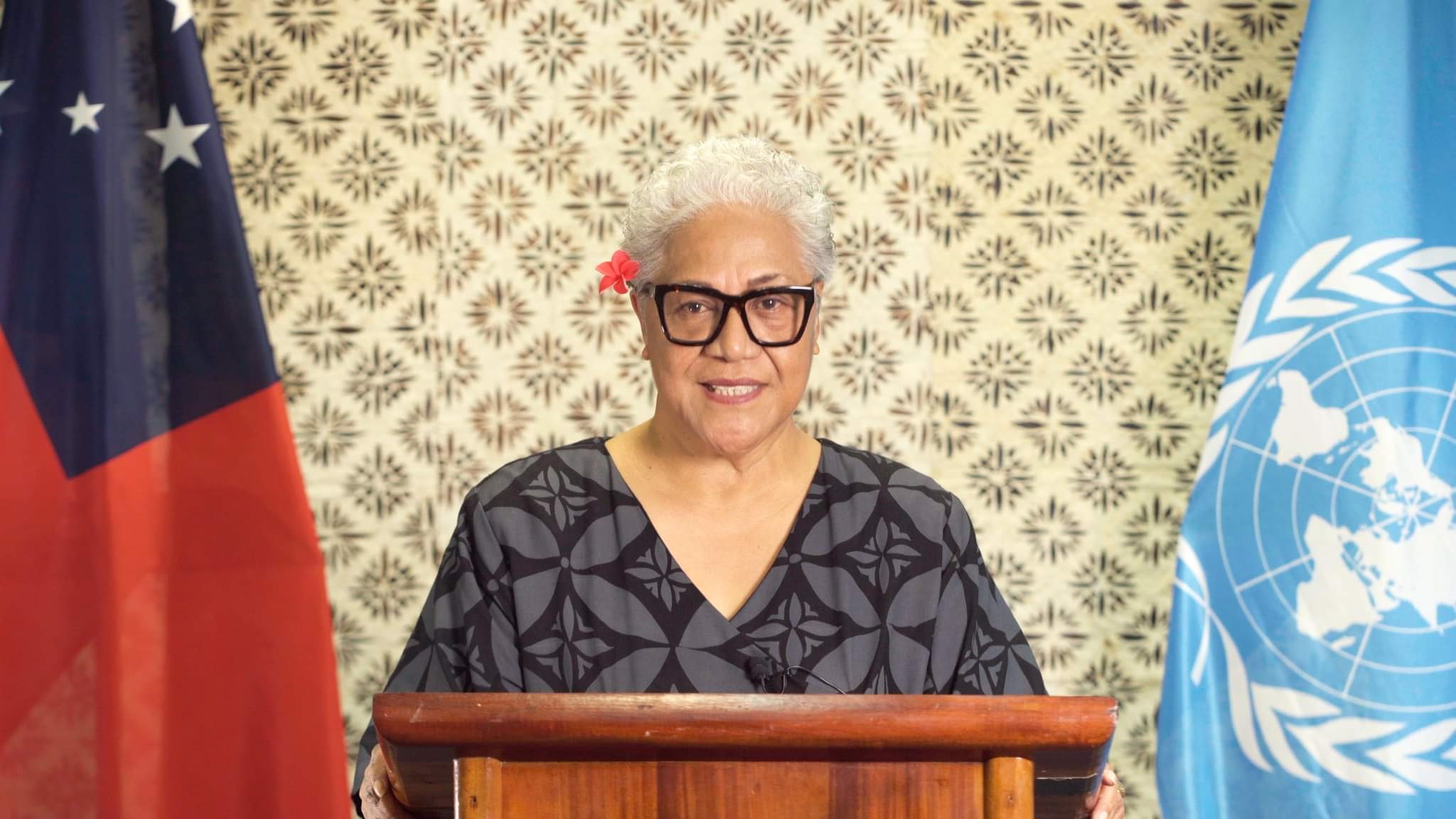 """""""Where there is unity there is hope for our future generations,"""" Hon. Fiame Naomi Mataafa"""