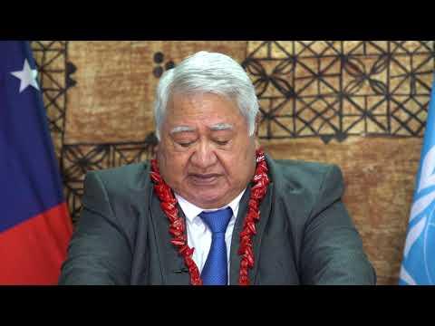 Prime Minister of Samoa Tuilaepa Sailele Lupesoliai Malielegaoi Statement at the UN 75 High Level Meeting